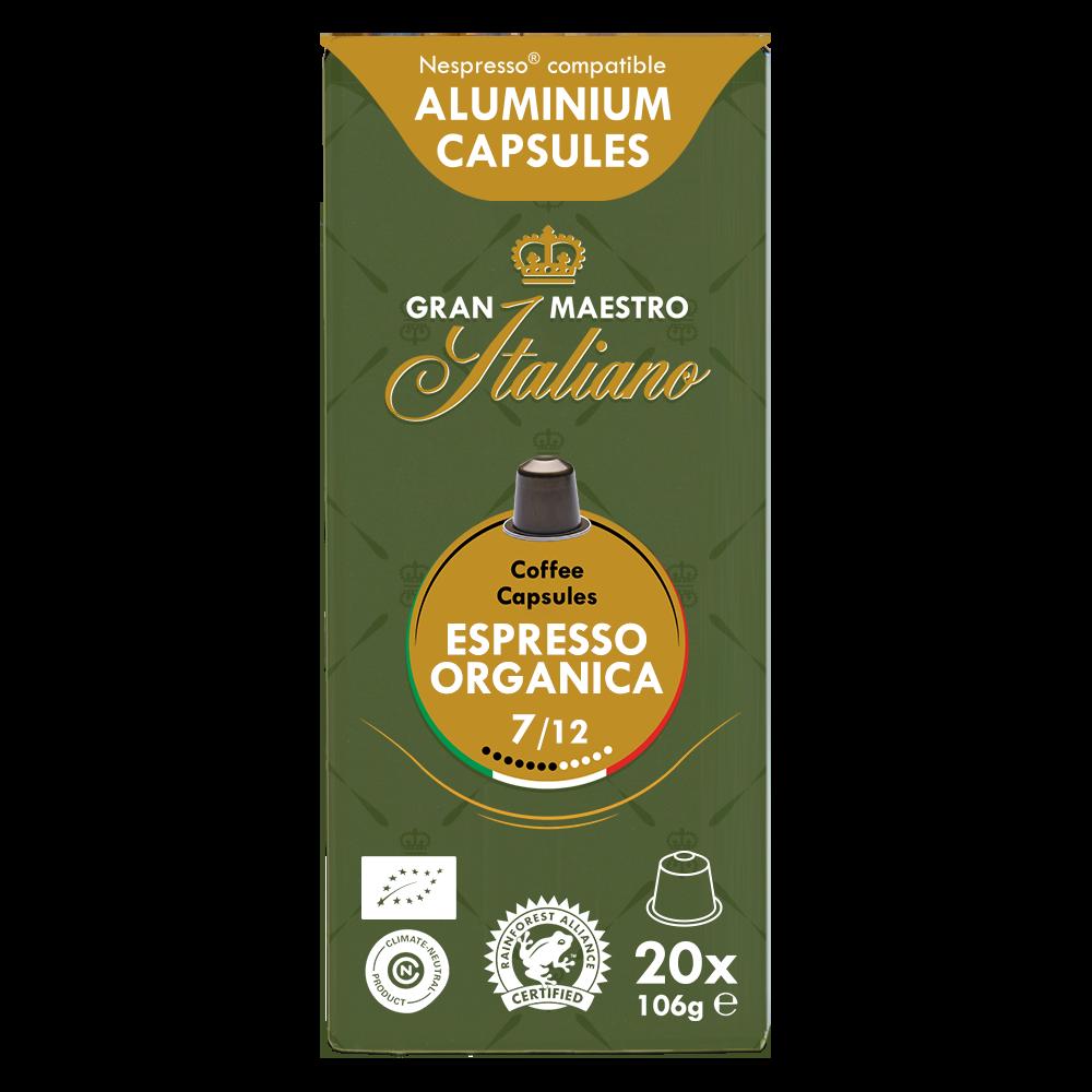 Gran Maestro Italiano - nespresso compatible- Espresso Organica (Organic)
